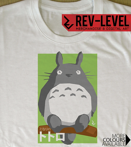My Neighbour Totoro Japanese Poster T-Shirt - トトロ Miyazaki Tee - Studio Ghibli