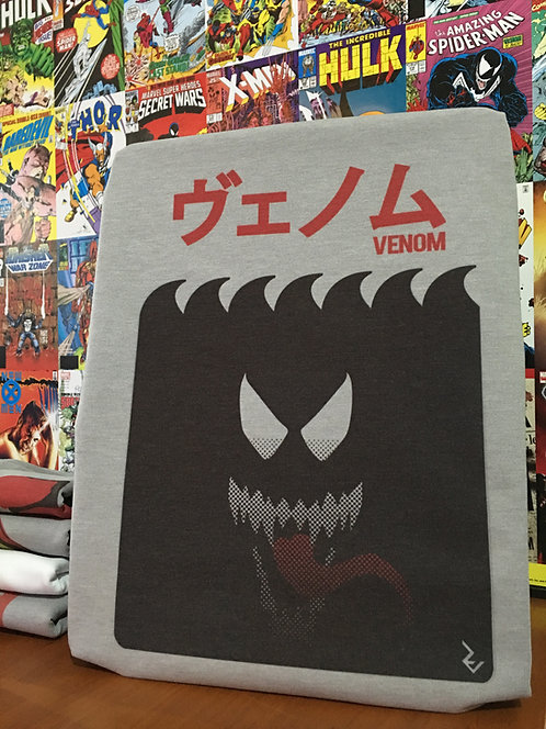 Venom Japanese Poster T-Shirt - Inspired by Marvel ヴェノム Venom and Jaws