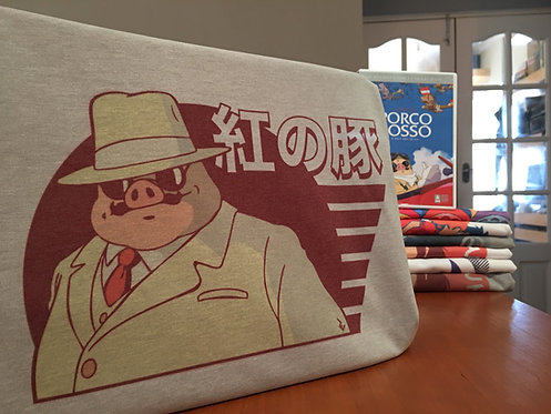 Porco Rosso Graphic Tee - Kurenai no Buta 紅の豚 Studio Ghibli T-Shirt