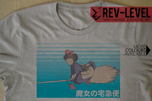 Kiki's Delivery Service Poster Tee - Kiki and Jiji Minimalist Ghibli T-Shirt