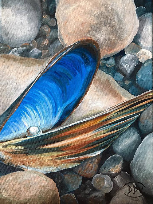 Oyster with Pearl Painting