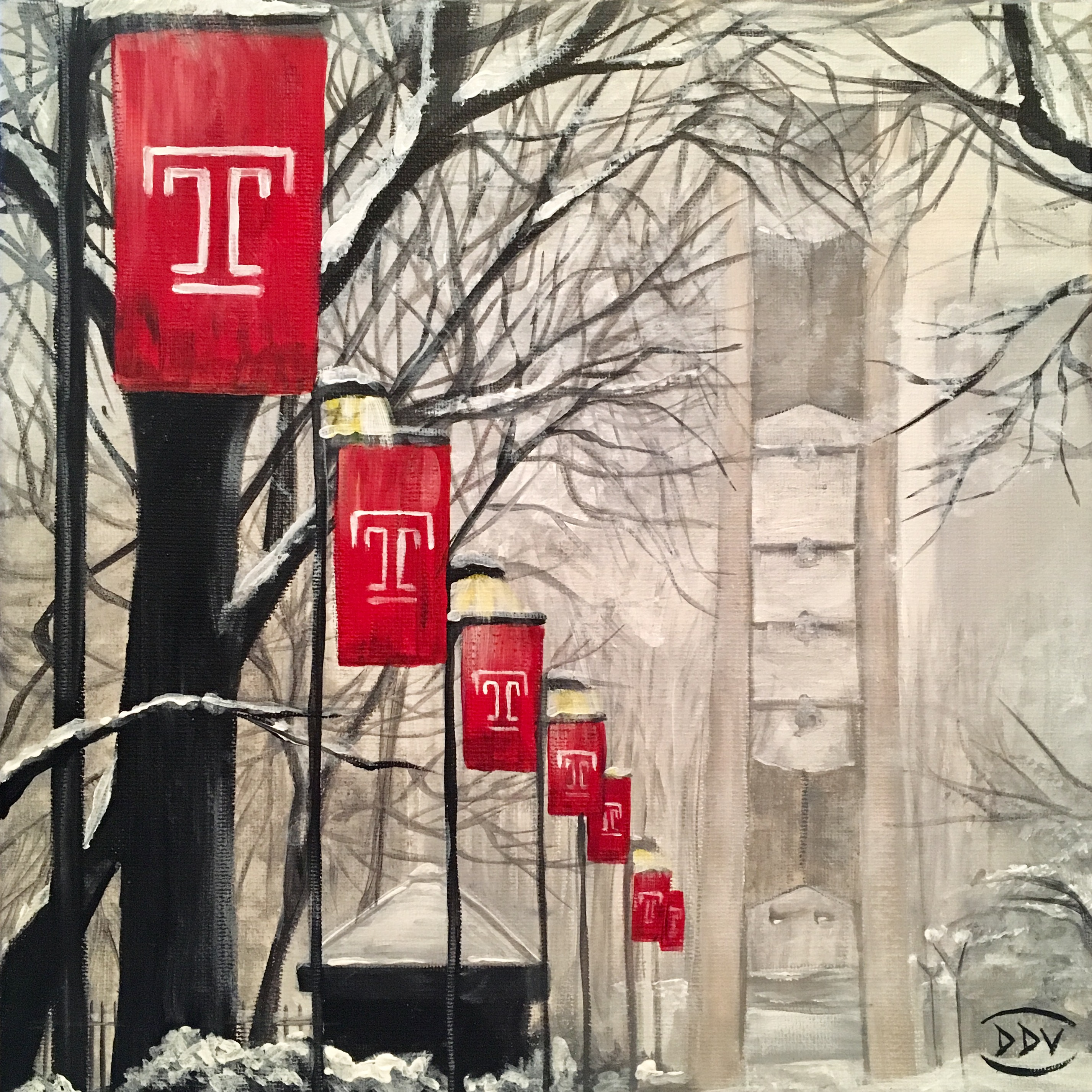 Temple University in the Snow