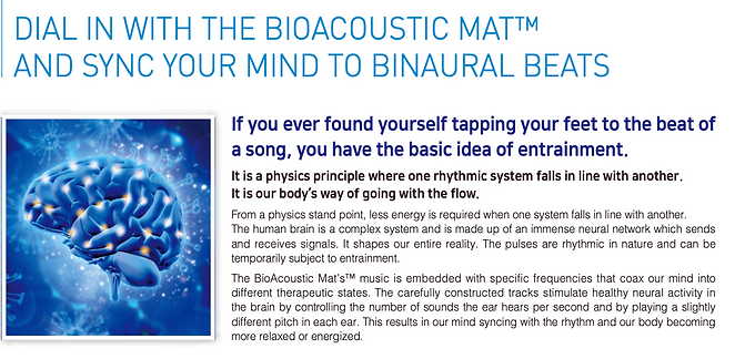 Dial in with the bioacoustic mat and sync your mind to binaural beats