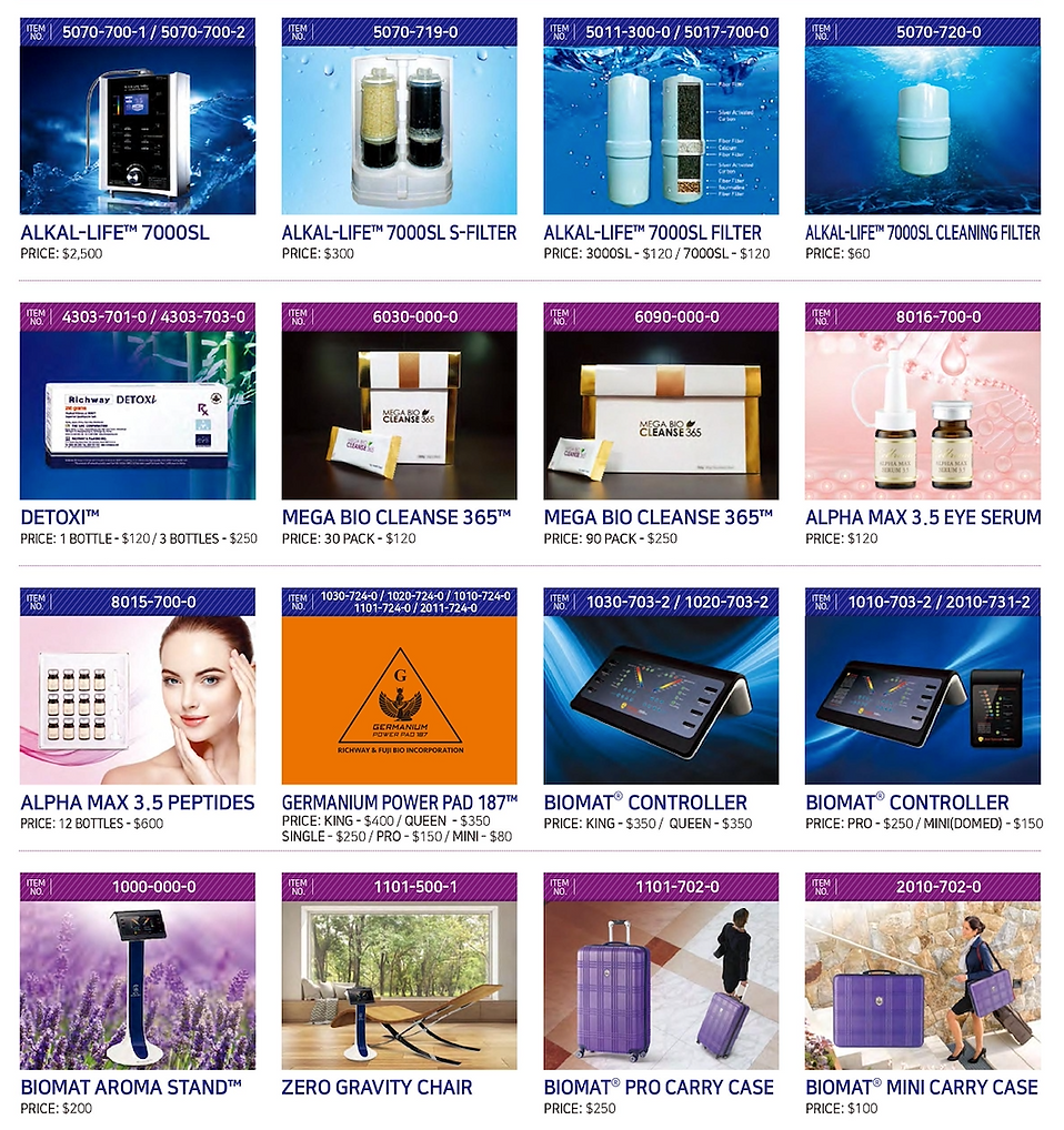 BioMat Canada product catalogue