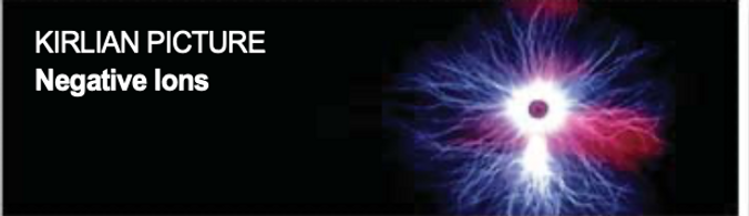 Kirlian Picture representing negative ions in the BioMat