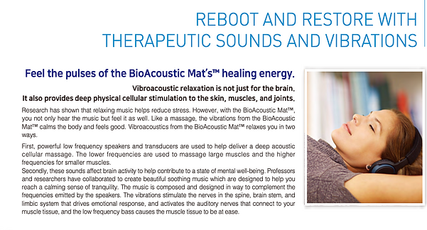 Reboot and restore with therapeutic sounds and vibrations with the BioAcoustic Mat by Richway