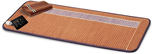 The professional bio mat heats up to temperatures hotter than an infrared sauna. The professional bio mat acts like a portable infrared sauna and includes a travel storage case for ease of travel and portability.