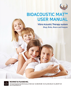 The Richway BioAcoustic Mat User Manual- Vibro Acoustic Therapy System- Sleep, relax, renew, energize