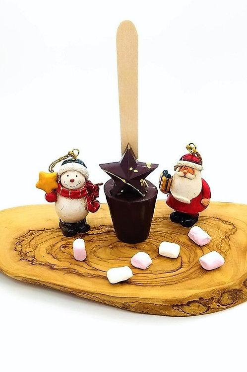 Dark Chocolate Christmas Star Spoonz