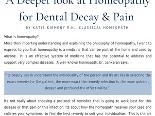 Series: Homeopathy for Dental Decay & Pain