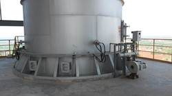 cooling air and nozzles at calciner