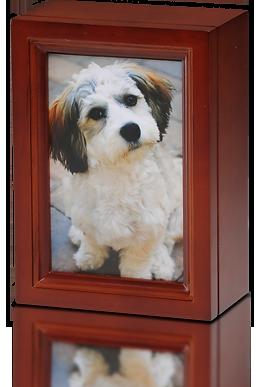 4 X 6 Wooden Photo Frame Pet Urn In Cherry