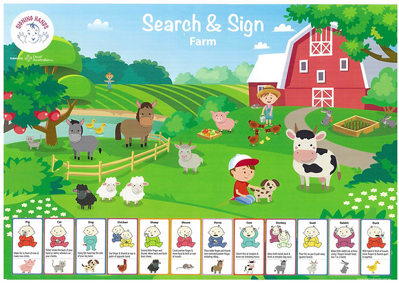 Search and Sign Farm Poster