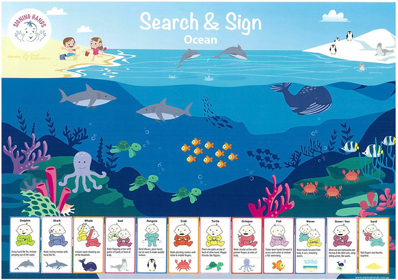 Search and Sign Ocean Poster