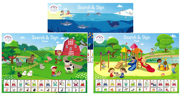 Search and sign posters -  set of 3