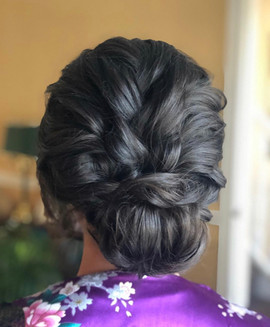 soft upstyle wedding hair