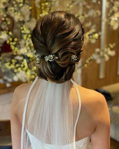 soft textured wedding hair up