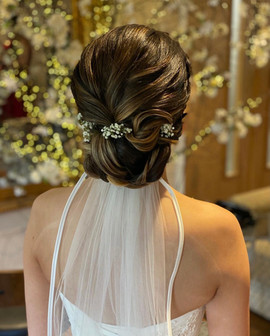 soft textured wedding hair up