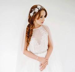 fishtail braid hairstyle wedding hair