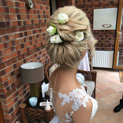 soft upstyle wedding hair