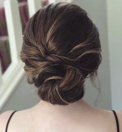 soft textured hair bun