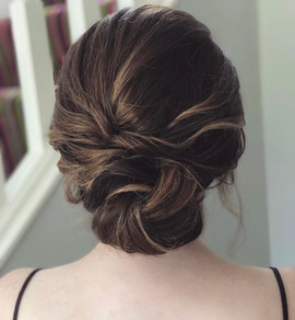 soft textured hair bun