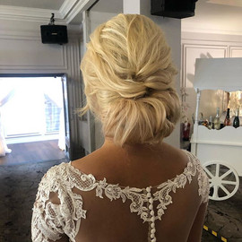 soft textured updo