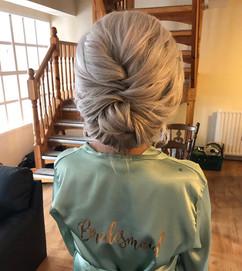 soft textured wedding hair