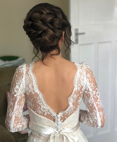 soft curly upstyle
