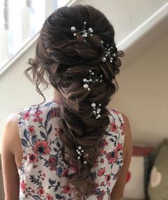 wedding hair with hair vine