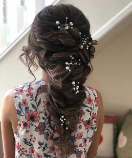 wedding hair with hair vine