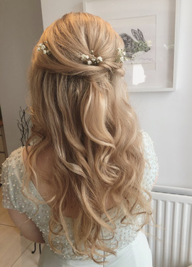 halfuphalfdown wedding hair