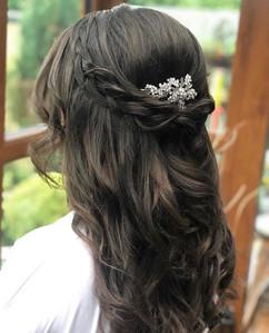 halfup halfdown braided hairstyle