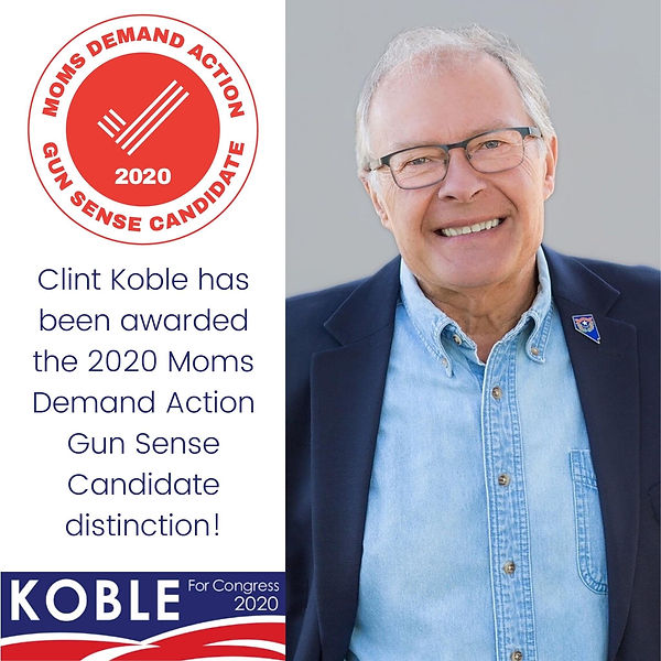 Clint Koble is endorsed by Moms Demand Action as a Gun Sense Candidate