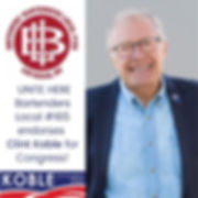 Bartenders Local 165 endorses Clint Koble for Congress in Nevada CD-2 (NV-2) in 2020