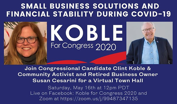 Clint Koble hosts a Town Hall to discuss Small Business Financial Stability during COVID-19  Congress Nevada CD2 2020 NV-2 Amodei Ackerman