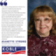 Jeanette Strong endorses Clint Koble for Congress, Nevada CD2 (NV2) in 2020
