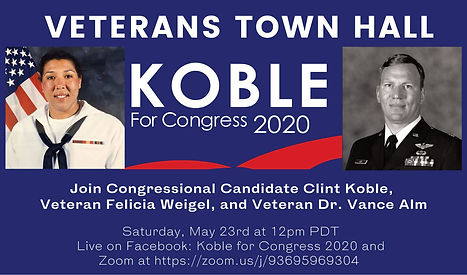 Clint Koble hosts a Veteran's Issues Town Hall with Felicia Weigel and Dr. Vance Alm