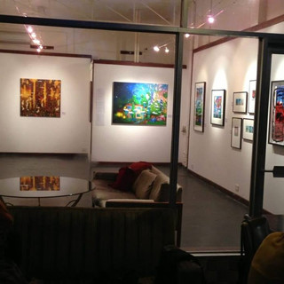 The front Gallery Cafe by night