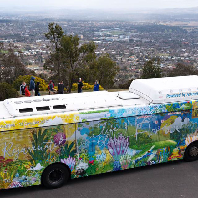 Floriade bus wrap design
