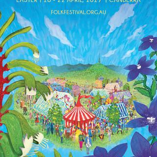 National Folk Festival Artwork