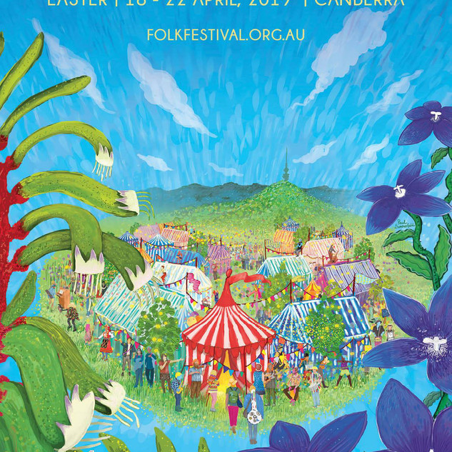 National Folk Festival Artwork