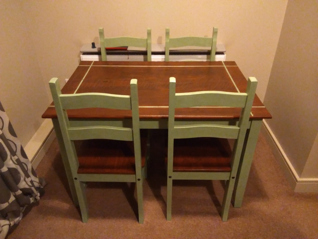 Hand painted table and chairs