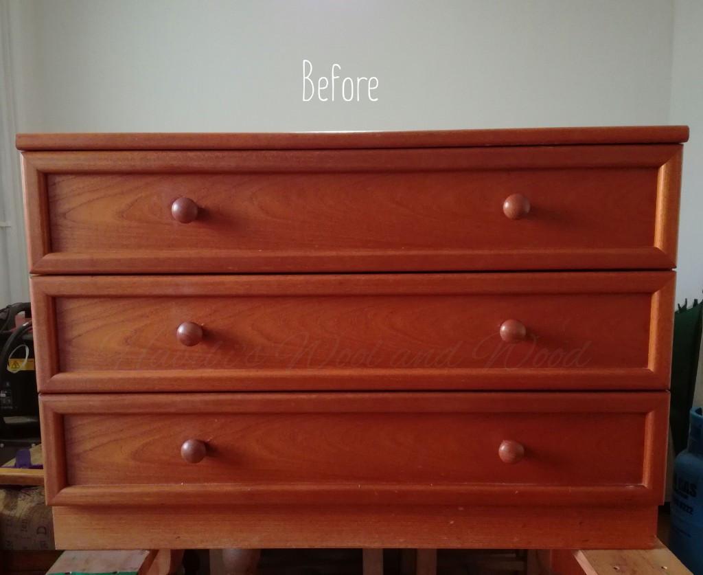 Painted dresser draws.