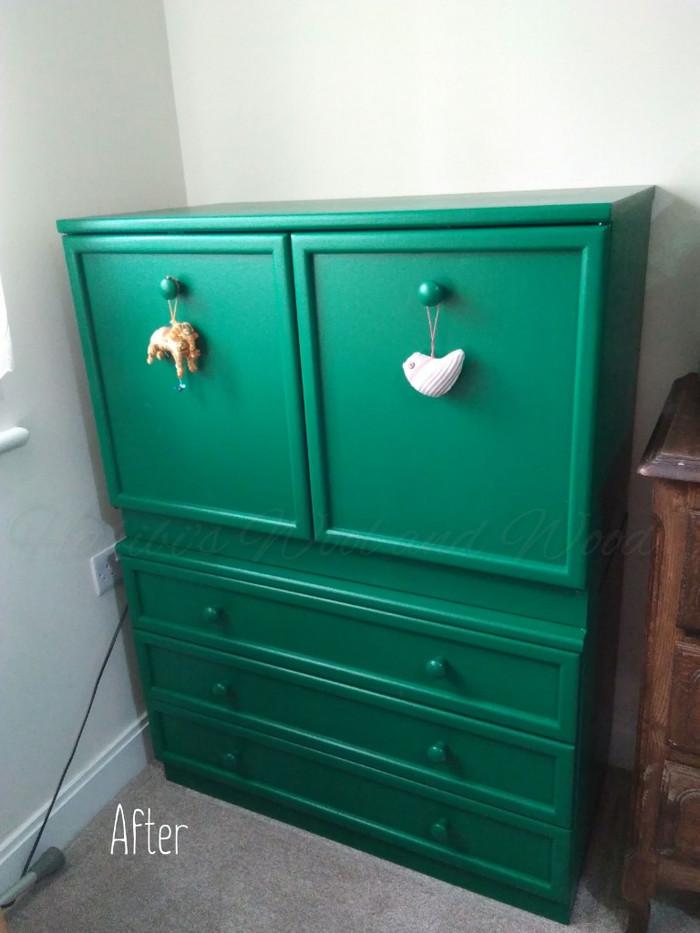 Painted cupboard.