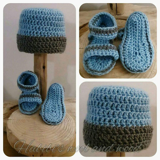 Crochet Hat and Sandals | New Baby Gift Set