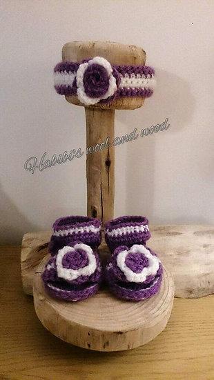 Crochet headband and sandals