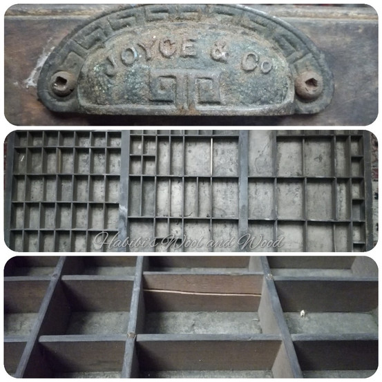 Restoring an old printers tray into a photo display piece.
