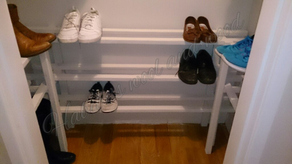 Bespoke shoe storage.