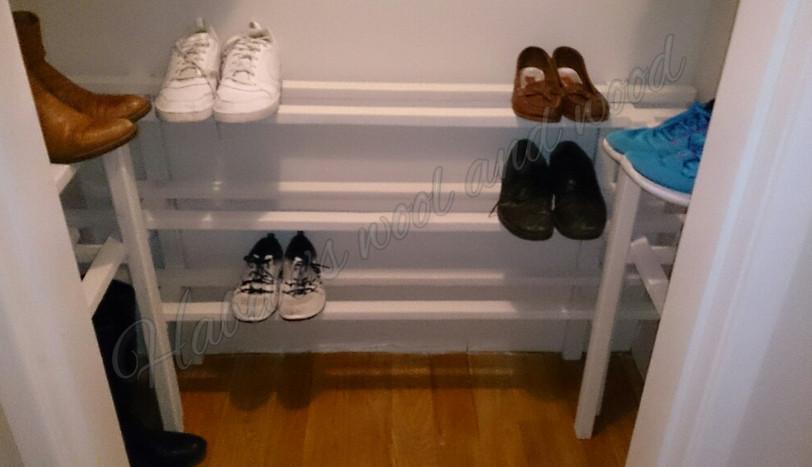 Bespoke shoe storage.